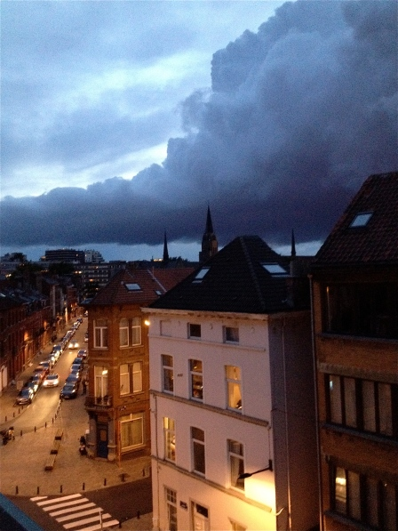 Colossal rain cloud over Ixelles.
