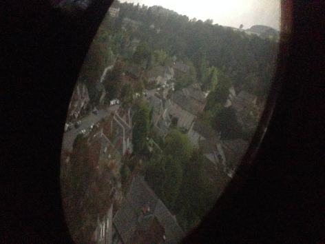 A crisp image of Dumfries from the camera obscura.